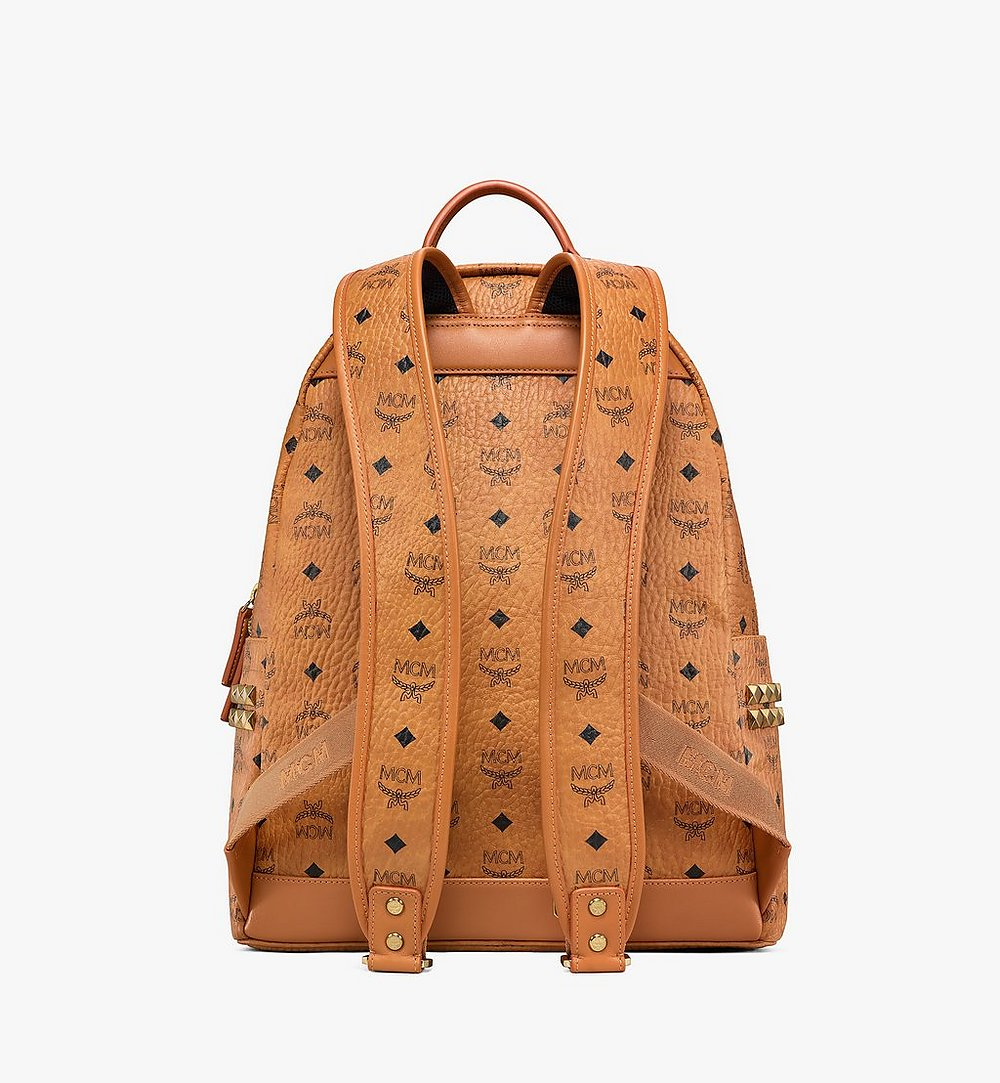 MCM Stark Side Studs Backpack in Visetos Cognac MMK6SVE38CO001 Alternate View 3