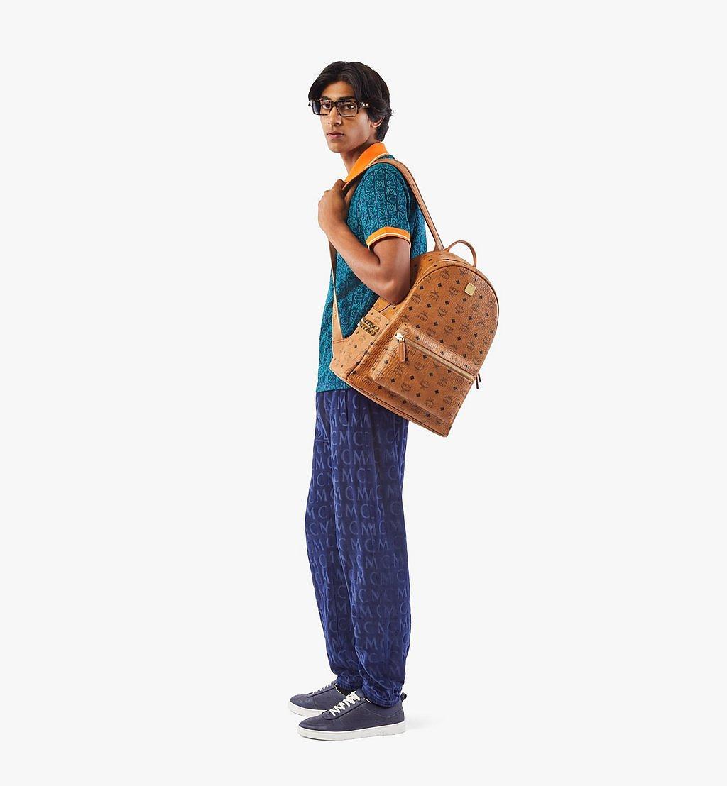MCM Stark Side Studs Backpack in Visetos Cognac MMK6SVE38CO001 Alternate View 3