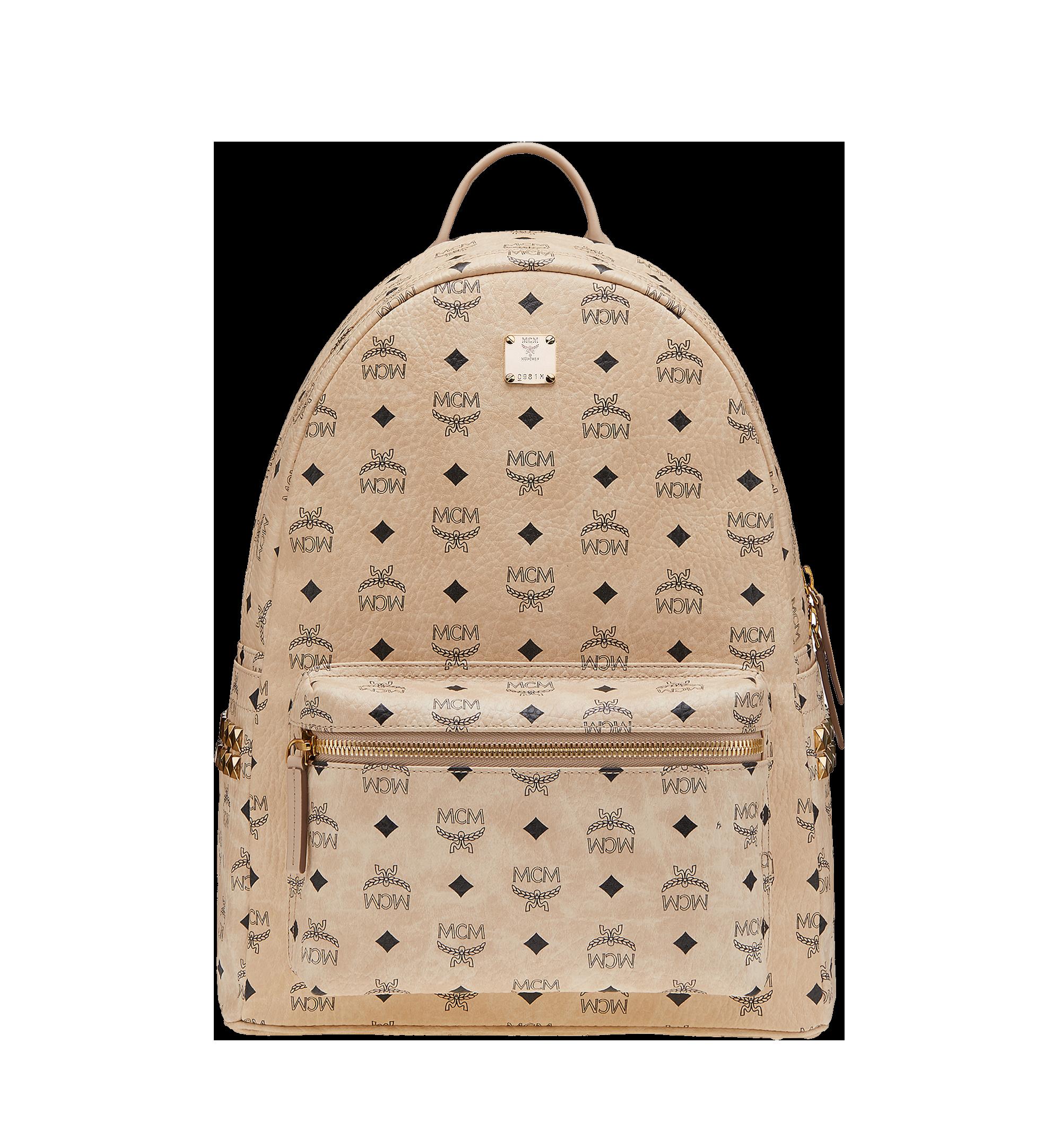 40 cm 16 in Stark Side Studs Backpack in Visetos Beige