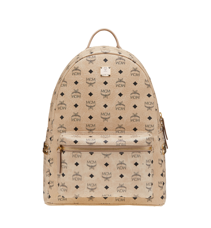 MCM Stark Side Studs Backpack in Visetos AlternateView