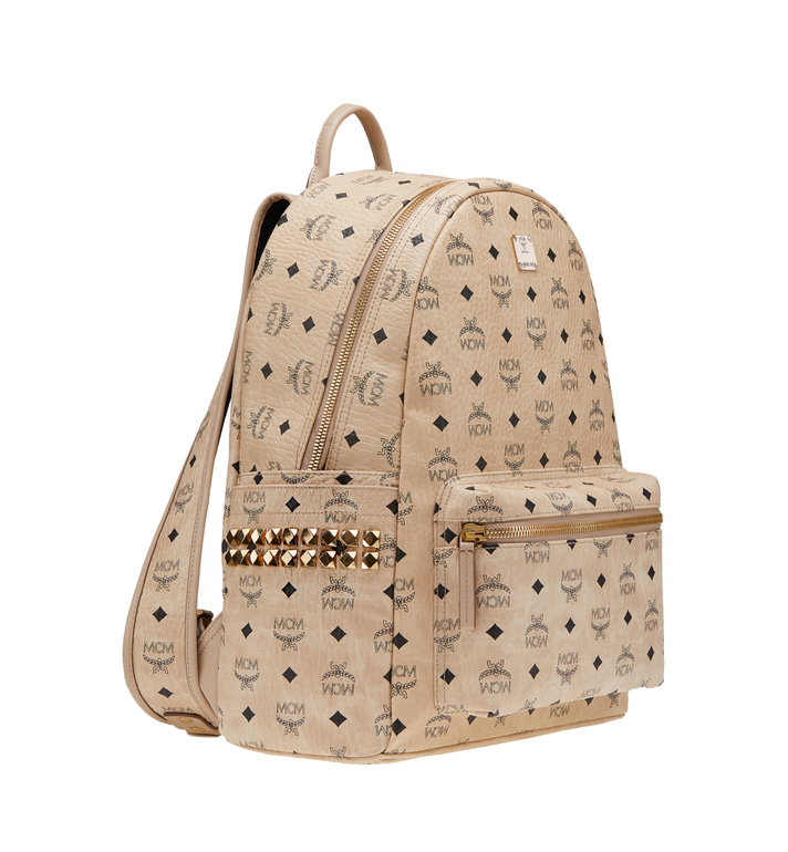 MCM Stark Side Studs Backpack in Visetos AlternateView2