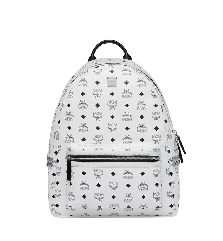 86f9bd9ffa4 40 cm / 16 in Stark Side Studs Backpack in Visetos White | MCM
