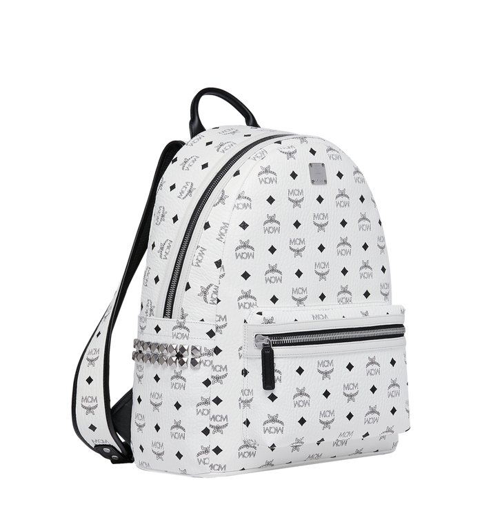 MCM Stark Side Studs Backpack in Visetos MMK6SVE38WT001 AlternateView2