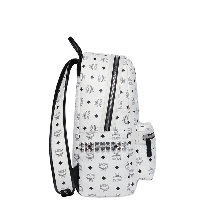MCM Stark Side Studs Backpack in Visetos White MMK6SVE38WT001 Alternate View 3
