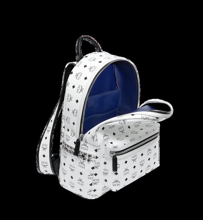 MCM Stark Side Studs Backpack in Visetos White MMK6SVE38WT001 Alternate View 5