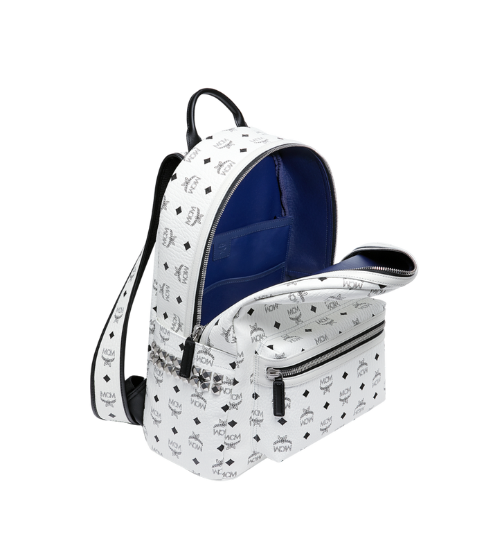 MCM Stark Side Studs Backpack in Visetos MMK6SVE38WT001 AlternateView5