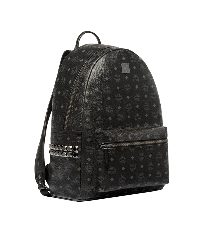 MCM Stark Side Studs Backpack in Visetos MMK6SVE39BK001 AlternateView2
