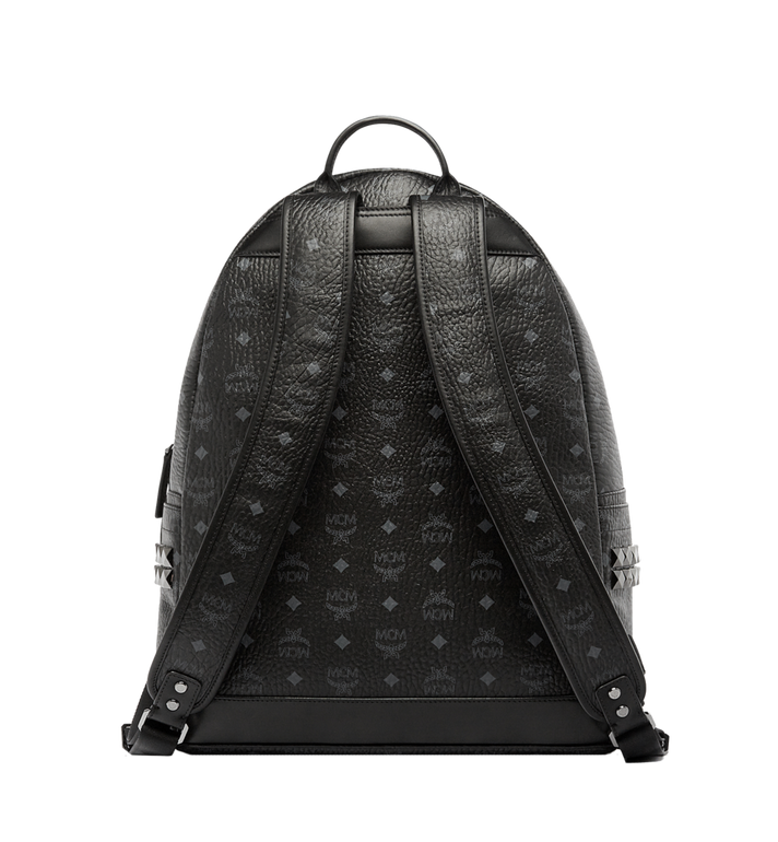 MCM Stark Side Studs Backpack in Visetos MMK6SVE39BK001 AlternateView4