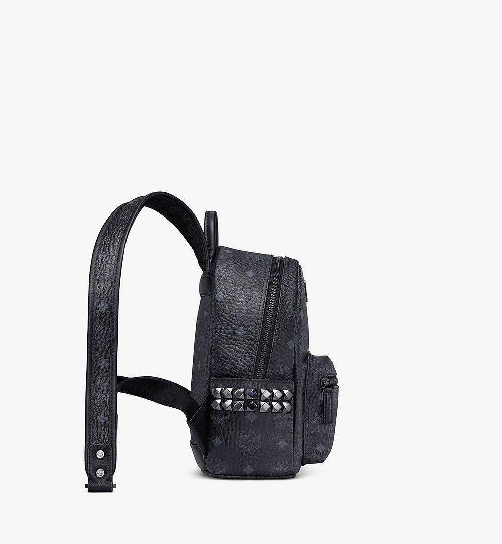 MCM Stark Side Studs Backpack in Visetos Black MMK6SVE41BK001 Alternate View 1
