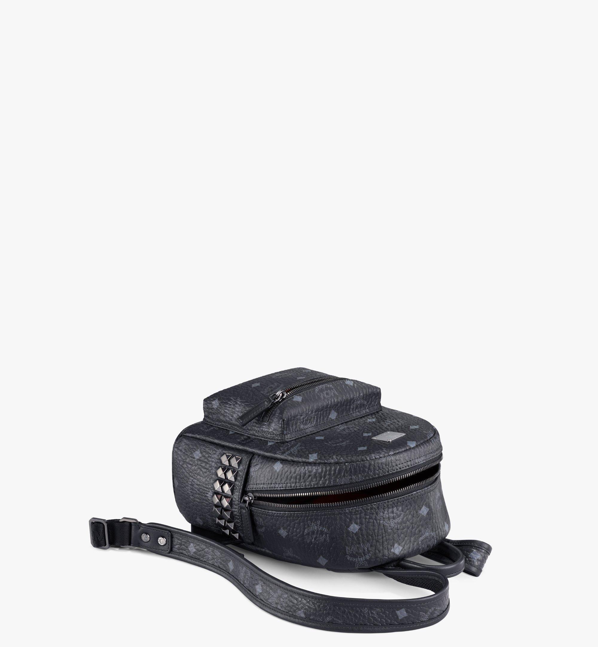 MCM Stark Side Studs Backpack in Visetos Black MMK6SVE41BK001 Alternate View 3