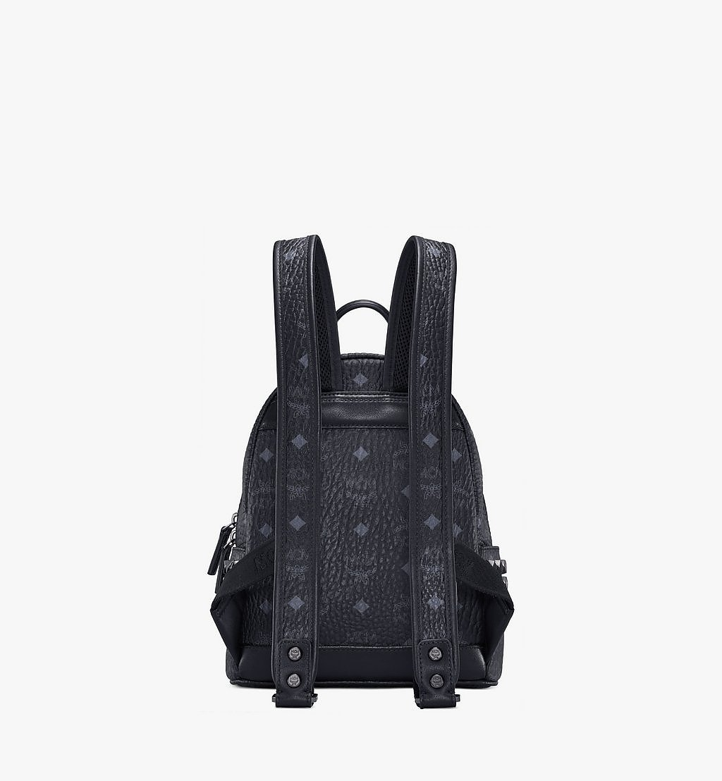 MCM Stark Side Studs Backpack in Visetos Black MMK6SVE41BK001 Alternate View 3