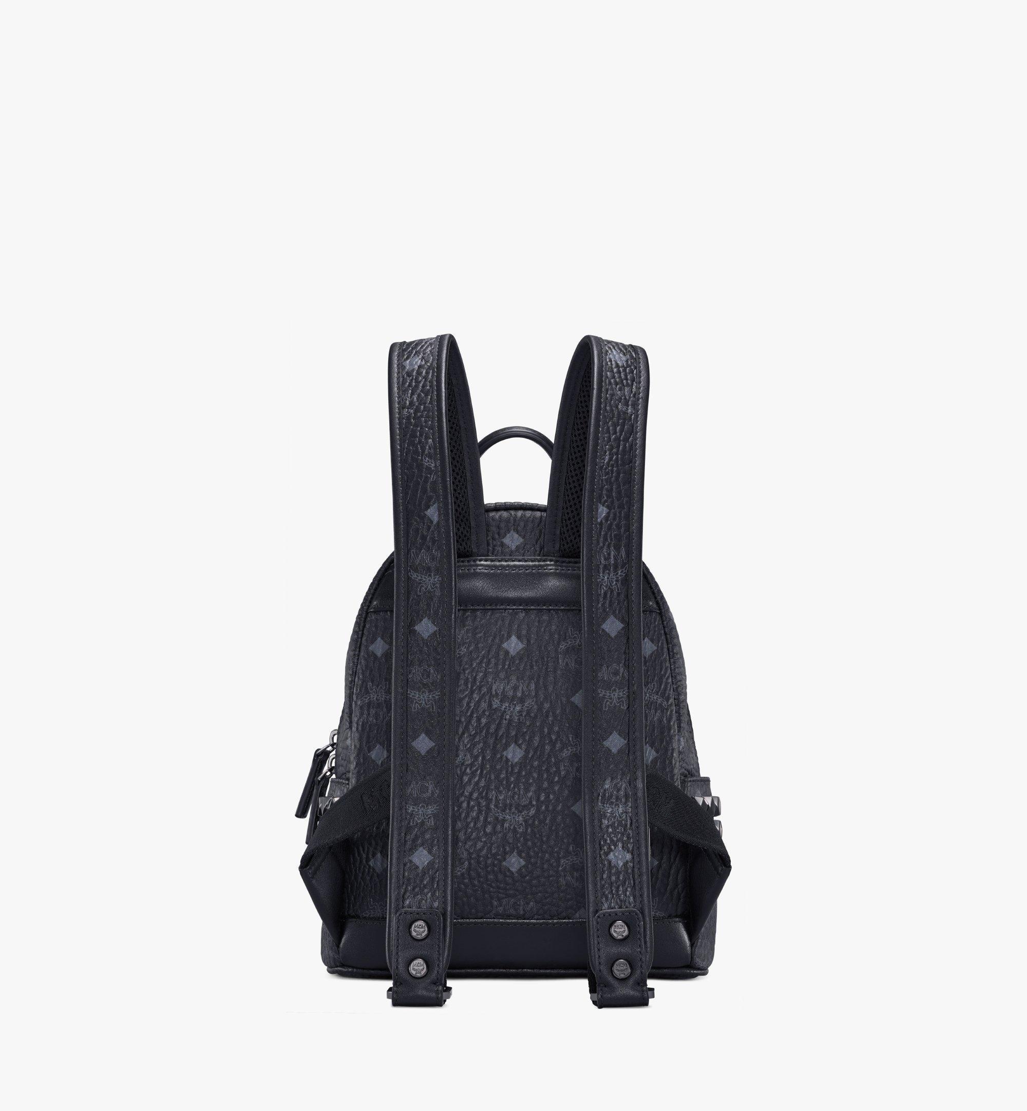 MCM Stark Side Studs Backpack in Visetos Black MMK6SVE41BK001 Alternate View 4