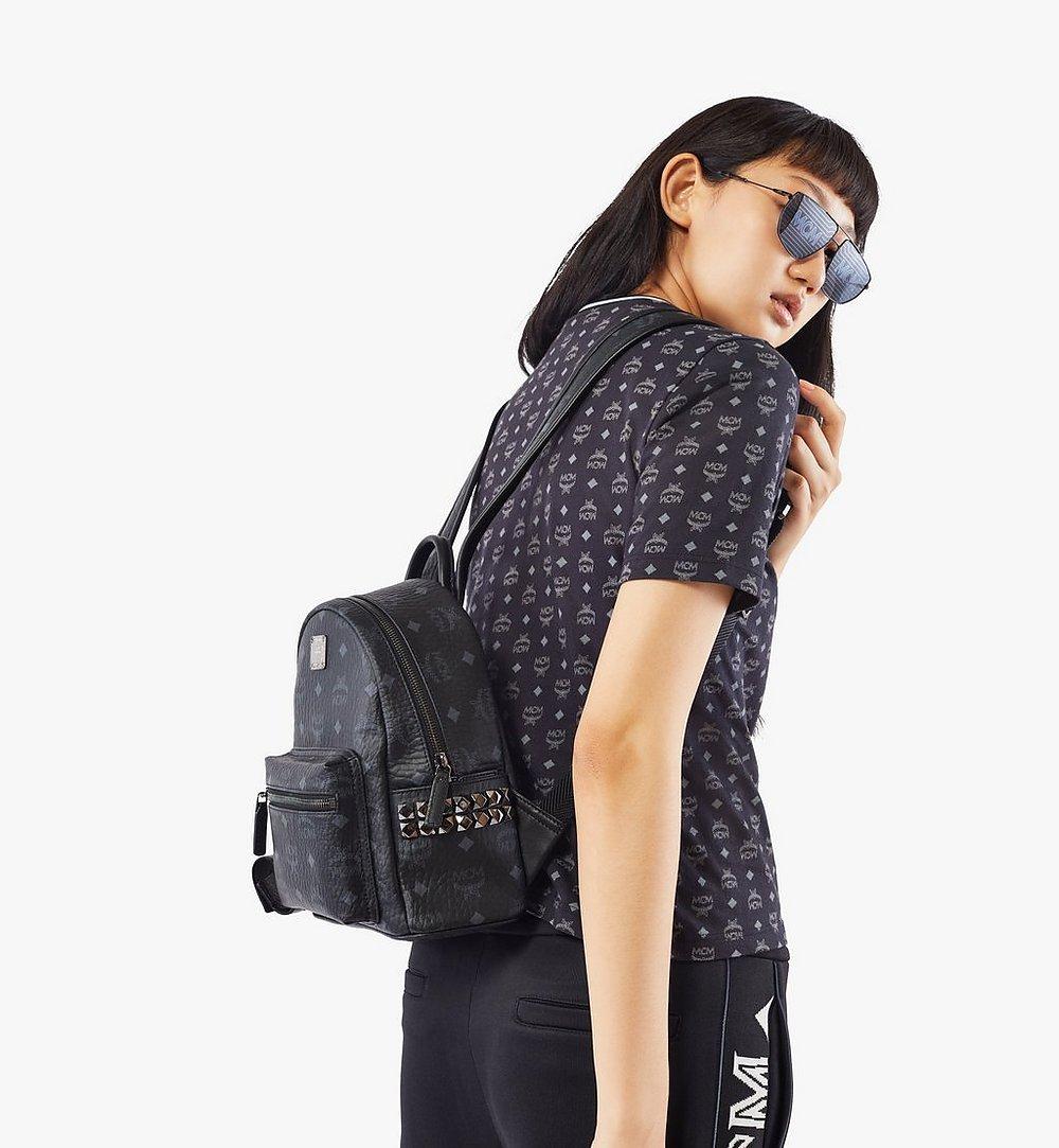 MCM Stark Side Studs Backpack in Visetos Black MMK6SVE41BK001 Alternate View 2
