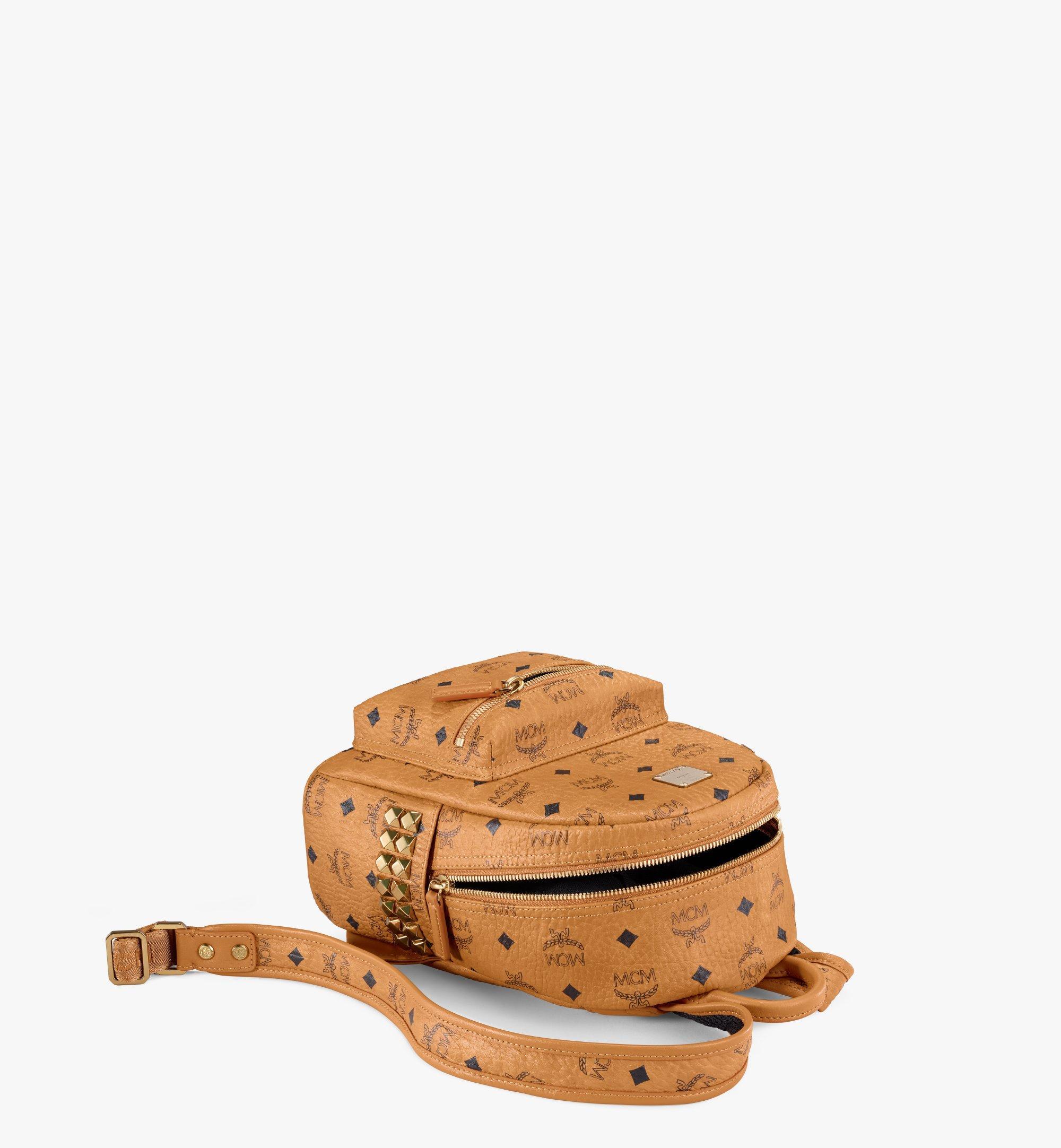 MCM Stark Side Studs Backpack in Visetos Cognac MMK6SVE41CO001 Alternate View 2