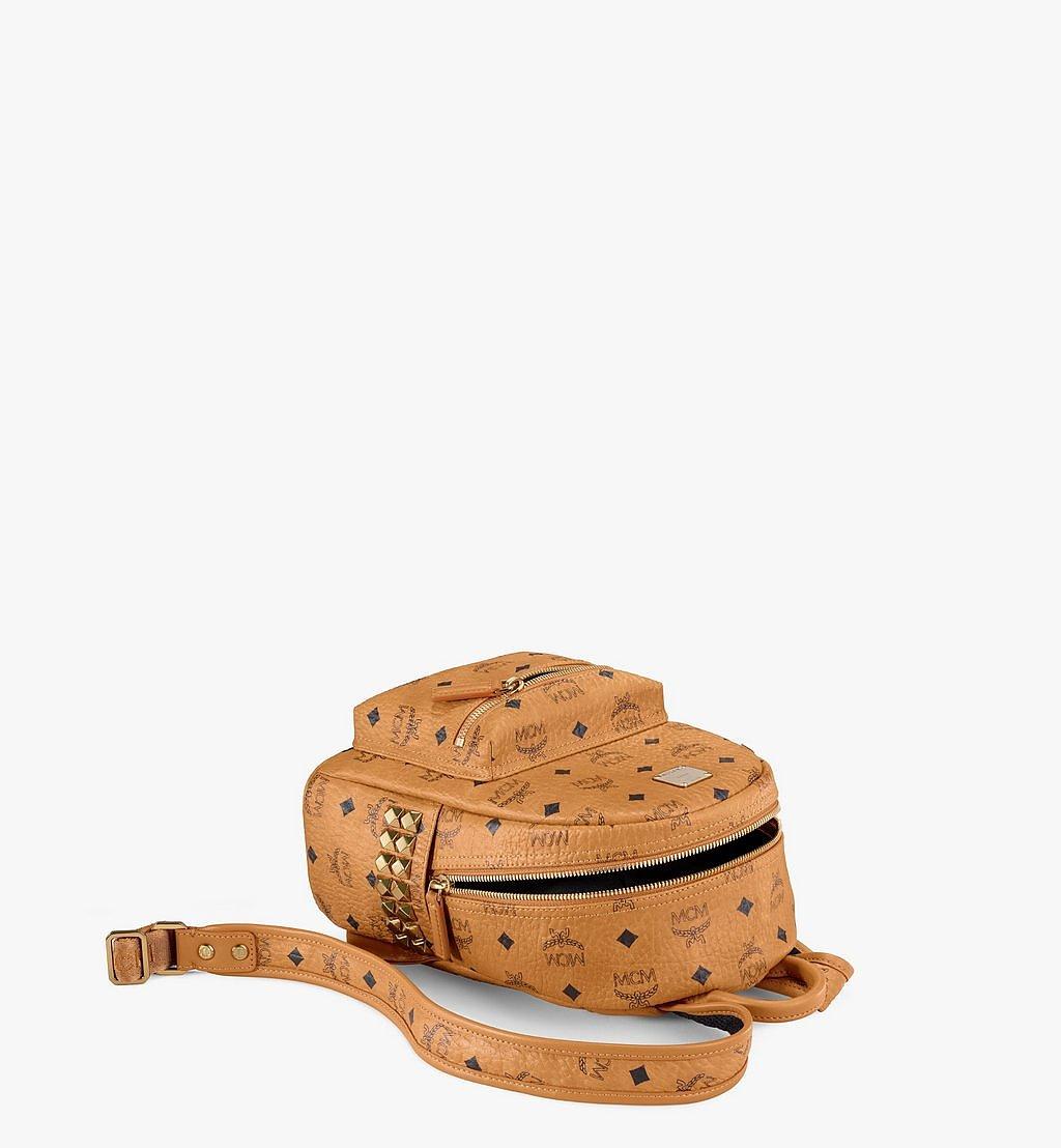 MCM Stark Rucksack in Visetos mit seitlichen Nieten Cognac MMK6SVE41CO001 Noch mehr sehen 2