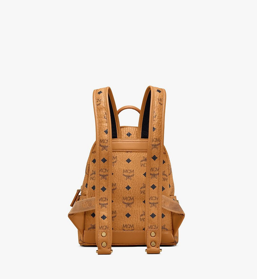 MCM Stark Side Studs Backpack in Visetos Cognac MMK6SVE41CO001 Alternate View 3