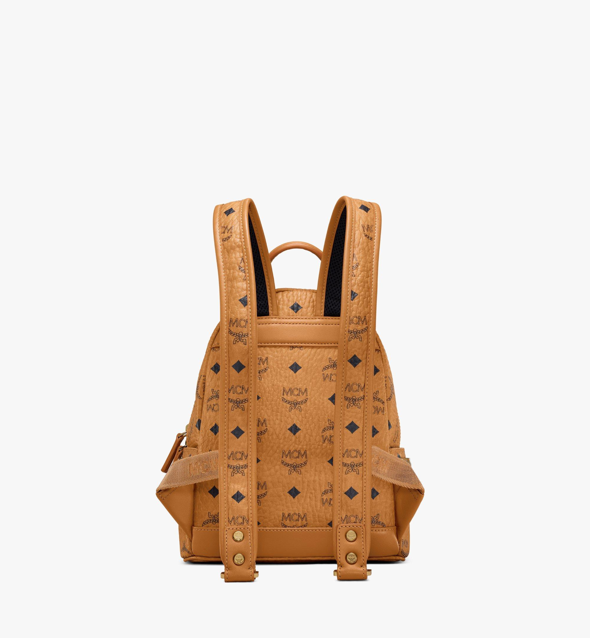 MCM Stark Side Studs Backpack in Visetos Cognac MMK6SVE41CO001 Alternate View 4