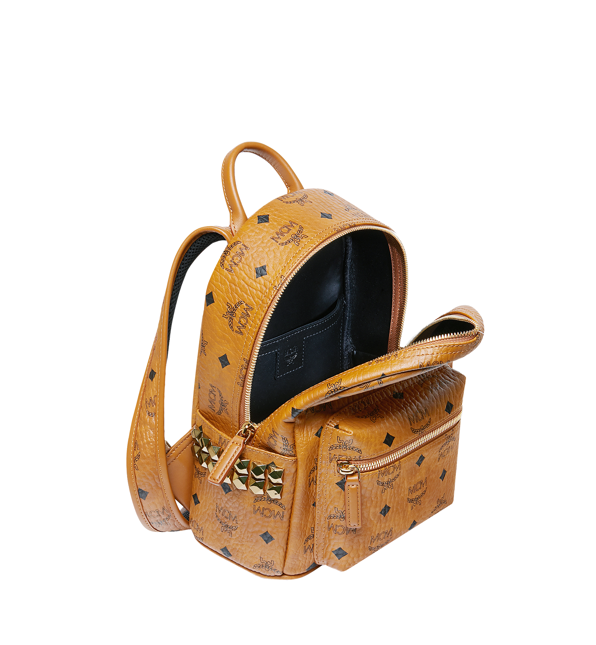 MCM Stark Side Studs Backpack in Visetos Cognac MMK6SVE41CO001 Alternate View 5