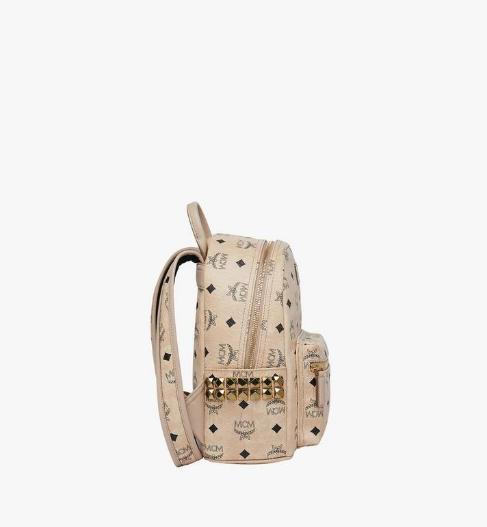 MCM Stark Side Studs Rucksack in Visetos Beige MMK6SVE41IG001 Alternate View 3