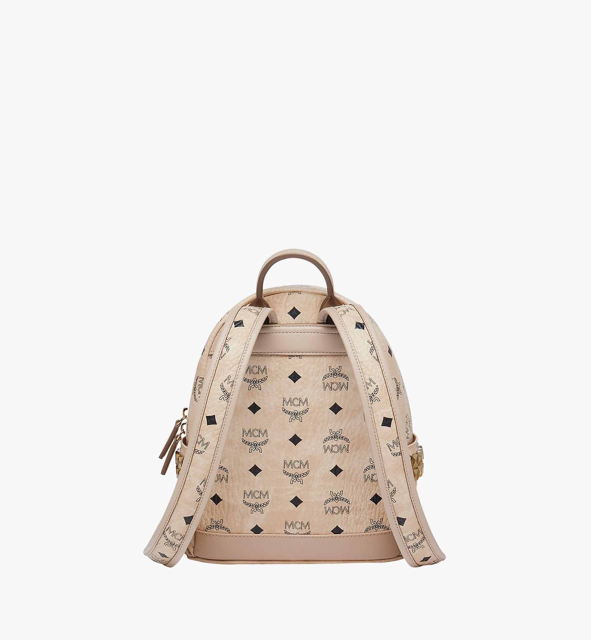 27 cm 10.5 in Stark Side Studs Backpack in Visetos Beige