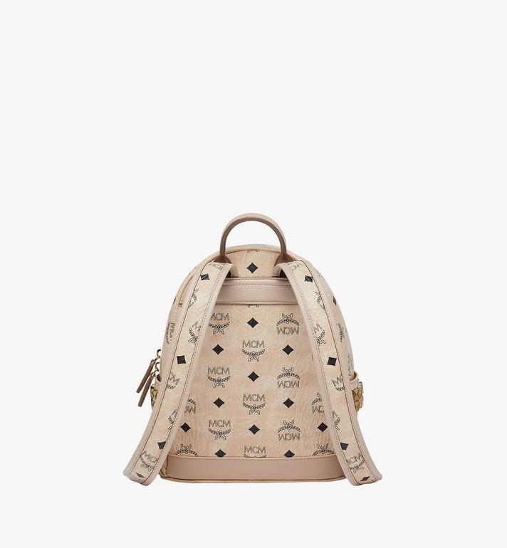 MCM Stark Side Studs Rucksack in Visetos Beige MMK6SVE41IG001 Alternate View 4