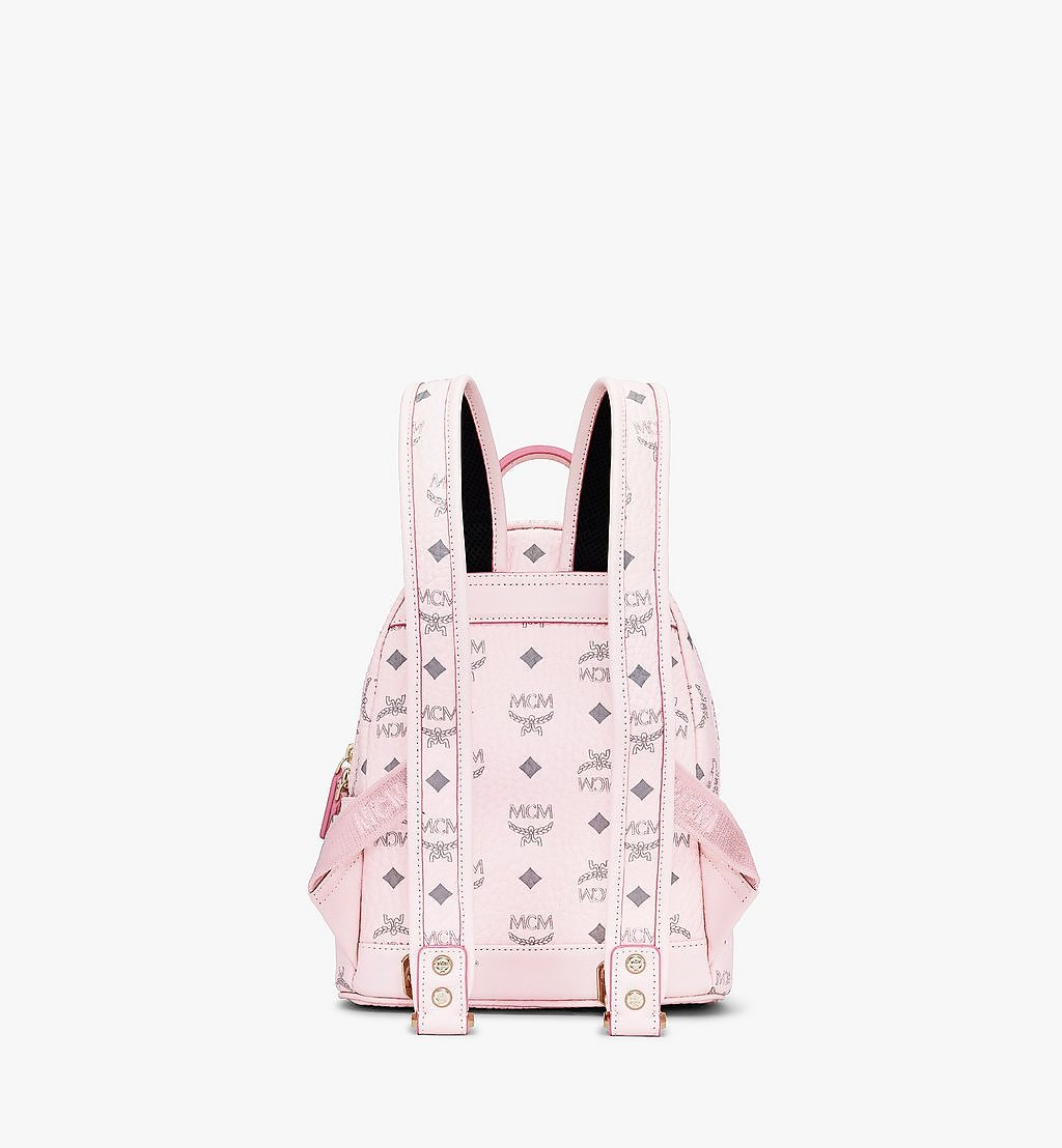 MCM Stark Side Studs Backpack in Visetos Pink MMK6SVE41QH001 Alternate View 2