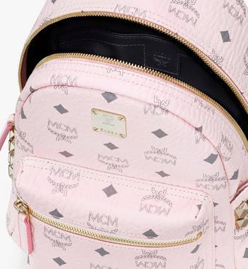 MCM Stark Backpack in Visetos Pink MMK6SVE41QH001 Alternate View 4