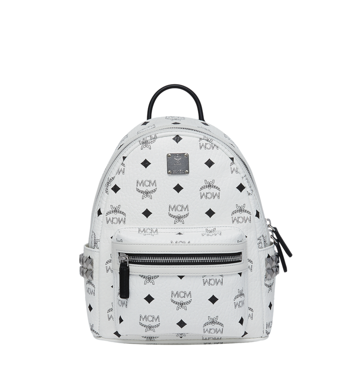 e3eec7f081b 27 cm   10.5 in Stark Side Studs Backpack in Visetos White