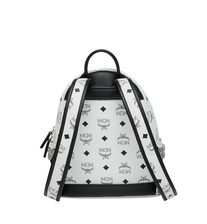 MCM Stark Side Studs Rucksack in Visetos White MMK6SVE41WT001 Alternate View 4