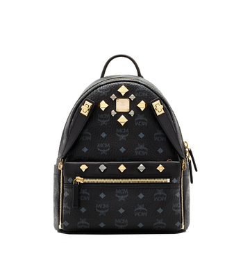 MCM Dual Stark Backpack in Visetos MMK6SVE80BK001 AlternateView