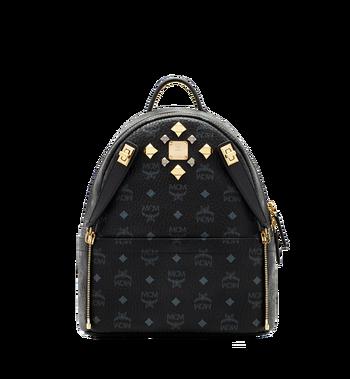 MCM Dual Stark Backpack in Visetos MMK6SVE80BK001 AlternateView5