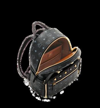 MCM Dual Stark Backpack in Visetos MMK6SVE80BK001 AlternateView6