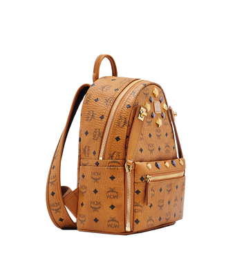 MCM Dual Stark Backpack in Visetos MMK6SVE80CO001 AlternateView2