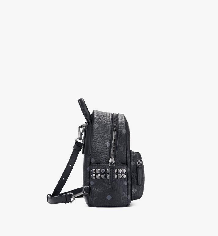 MCM Stark Side Studs Bebe Boo Backpack in Visetos AlternateView2