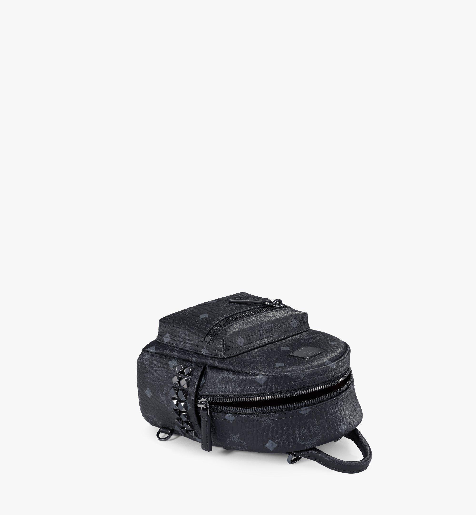 MCM Stark Bebe Boo Backpack in Visetos Black MMK6SVE92BK001 Alternate View 3