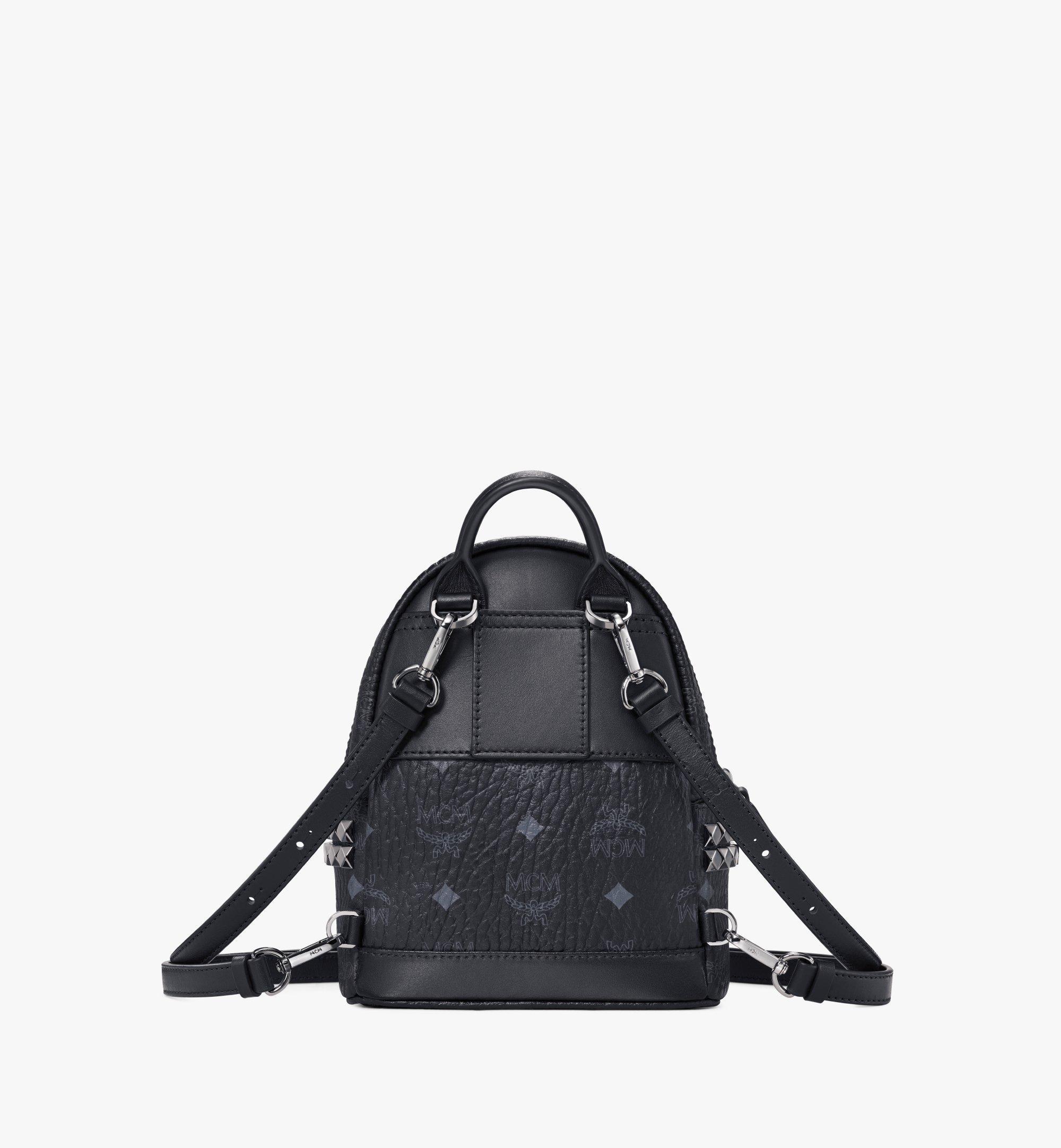MCM Stark Bebe Boo Backpack in Visetos Black MMK6SVE92BK001 Alternate View 4