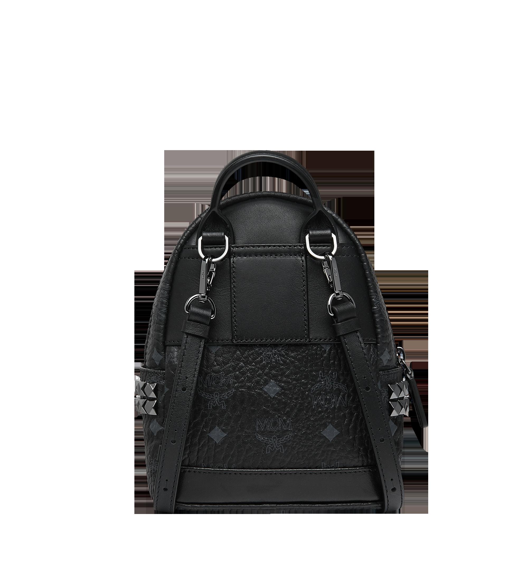 MCM Stark Bebe Boo Backpack in Visetos Black MMK6SVE92BK001 Alternate View 5