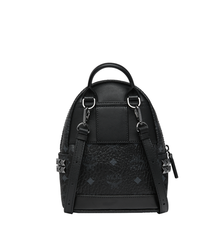 MCM Stark Side Studs Bebe Boo Backpack in Visetos Black MMK6SVE92BK001 Alternate View 5