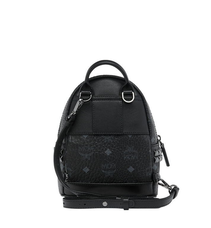 MCM Stark Side Studs Bebe Boo Backpack in Visetos Alternate View 6