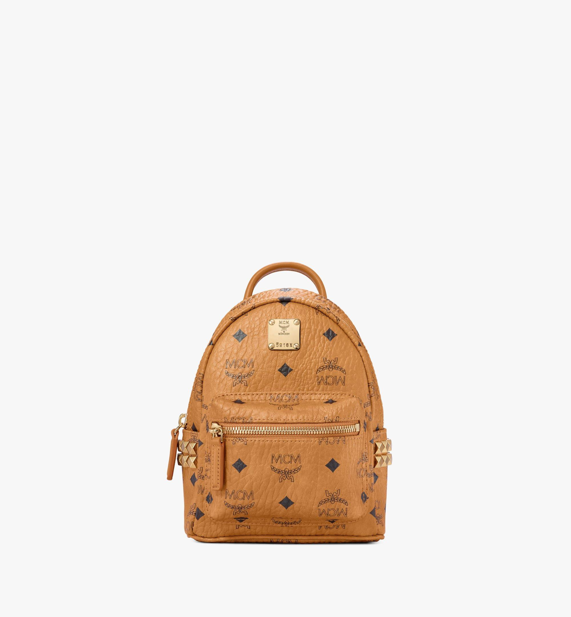 7df4ef1821c 20 cm   8 in Stark Side Studs Bebe Boo Backpack in Visetos Cognac