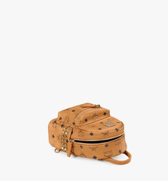 MCM Stark Bebe Boo Backpack in Visetos Cognac MMK6SVE92CO001 Alternate View 3