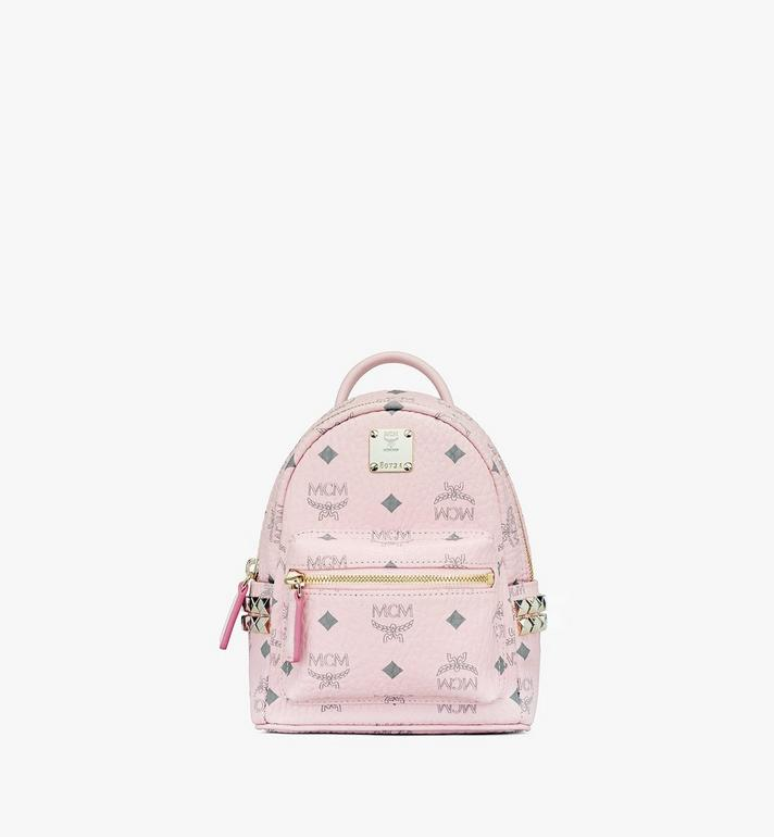 MCM Stark Bebo Boo Backpack in Visetos Pink MMK6SVE92QH001 Alternate View 1