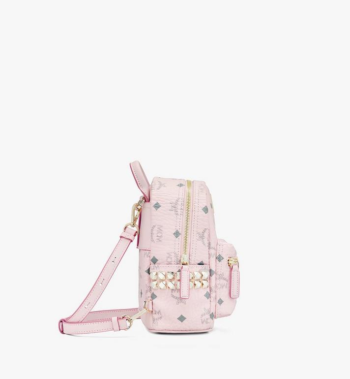 MCM Stark Bebo Boo Backpack in Visetos Pink MMK6SVE92QH001 Alternate View 2