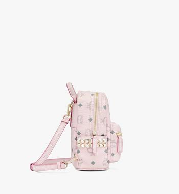 MCM Stark Bebo Boo Backpack in Visetos Pink MMK6SVE92QH001 Alternate View 2