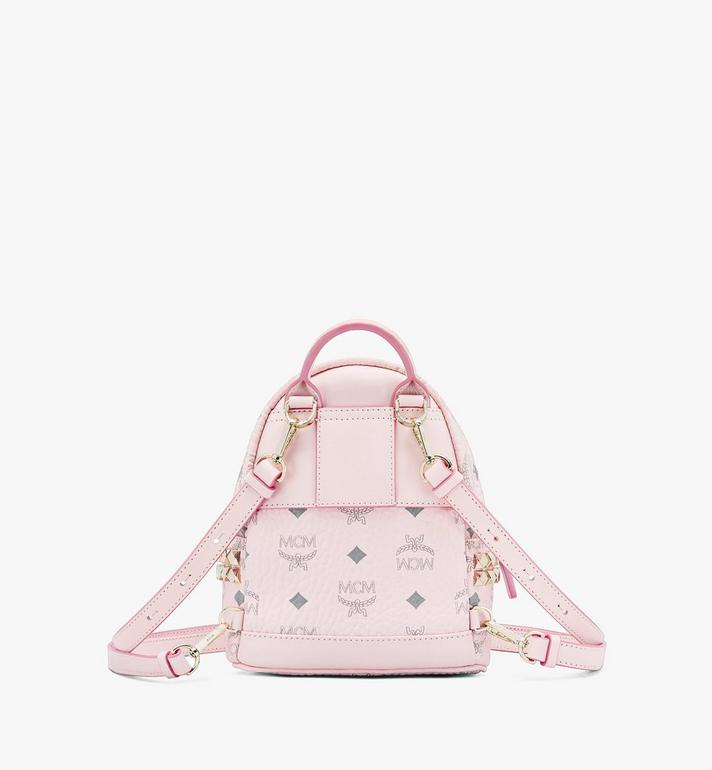 MCM Stark Bebo Boo Backpack in Visetos Pink MMK6SVE92QH001 Alternate View 3