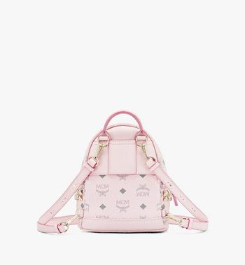 MCM Stark Bebo Boo Backpack in Visetos Pink MMK6SVE92QH001 Alternate View 3