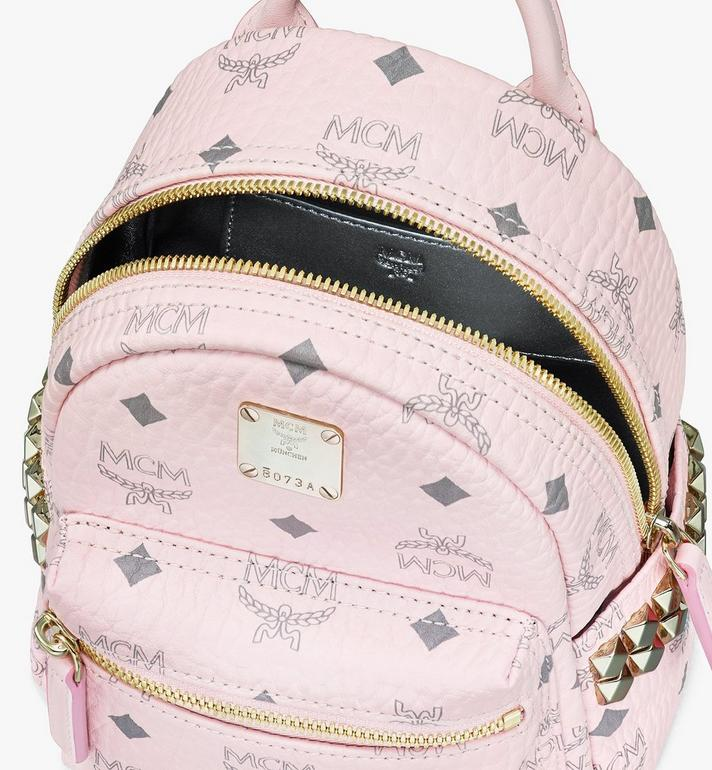 MCM Stark Bebo Boo Backpack in Visetos Pink MMK6SVE92QH001 Alternate View 4