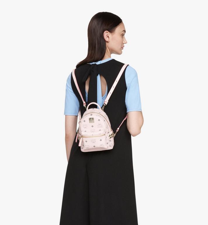 MCM Stark Bebo Boo Backpack in Visetos Pink MMK6SVE92QH001 Alternate View 5