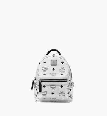 MCM Stark Side Studs Bebe Boo Backpack in Visetos MMK6SVE92WT001 AlternateView