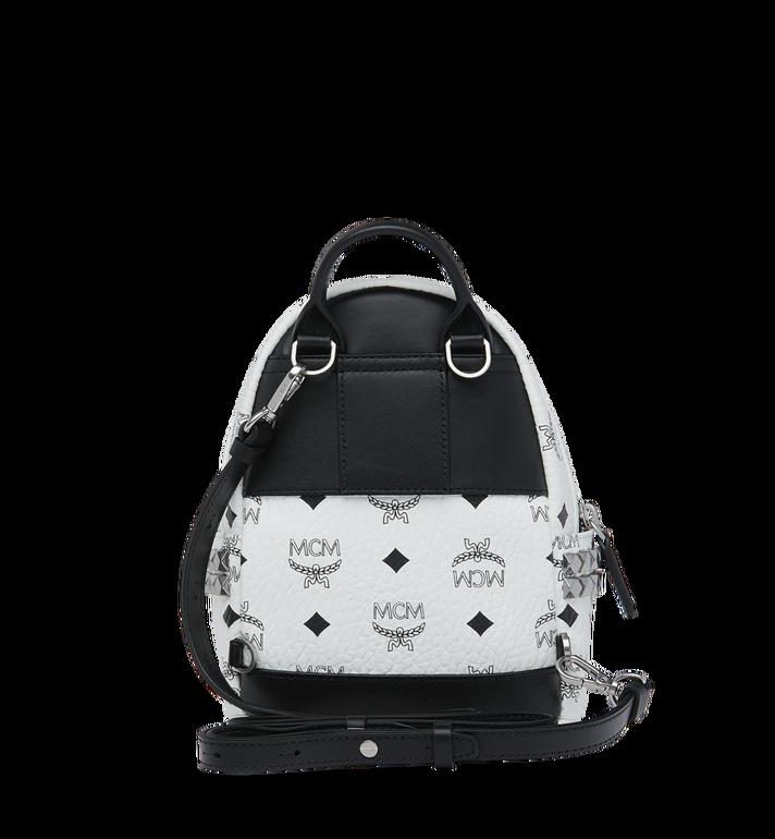 MCM Stark Side Studs Bebe Boo Backpack in Visetos Alternate View 6